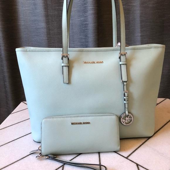 c2b40994b58d Michael Kors Bags | Celadon Tote Set | Poshmark